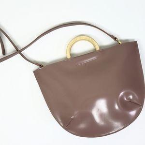 Vintage taupe vinyl bag